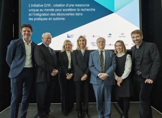 La force scientifique collective du projet Q1K et ses objectifs de faire avancer la compréhension de l'autisme pour des soins toujours mieux ciblés sont le cœur de cette initiative porteuse que soutient la Fondation Marcelle et Jean Coutu