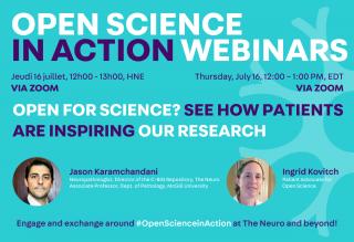 Open Science in Action Webinars graphic
