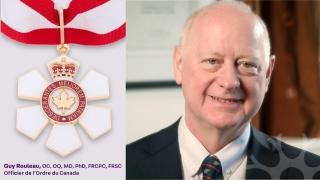 L'Ordre du Canada, la plus haute distinction décernée à des membres de la société civile par le gouvernement du Canada, sera remis au docteur Guy Rouleau, le directeur du Neuro, pour sa contribution exceptionnelle au domaine de la recherche clinique en santé.