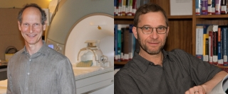 Douglas Arnold, left, and Amit Bar-Or, right, were authors on three studies conducted by an international team of researchers that has shown a drug to reduce new attacks/symptom progression in some MS patients.