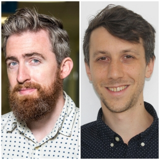 Researchers Adrien Peyrache, right, and Stuart Trenholm from The Neuro are among just ten nationwide to receive Early-Career Capacity Building Grants this year from the Azrieli Foundation in partnership with the Brain Canada Foundation.