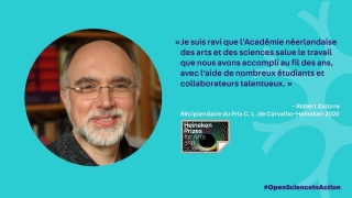 Le neuroscientifique de la cognition Robert Zatorre s'est vu décerner le Prix C. L. de Carvalho-Heineken en sciences cognitives.