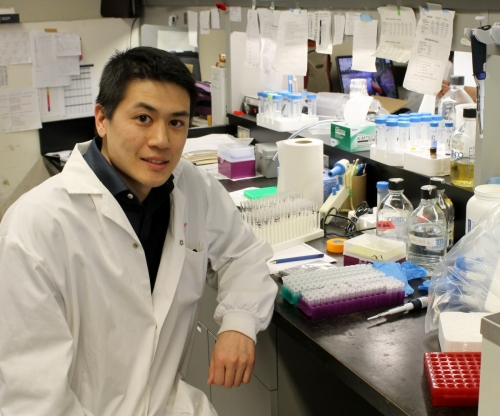 Matthew Tang, postdoctoral researcher, is part of the team that discovered how PINK1 can activate Parkin.
