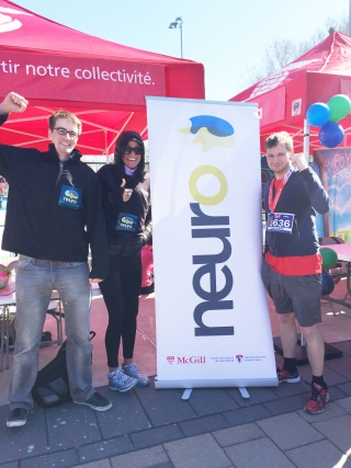 The Neuro Team taking part in the Scotiabank Charity Challenge