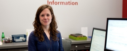 Liaison librarians like Jessica Lange know your department inside and out, and can really help you find what you need.