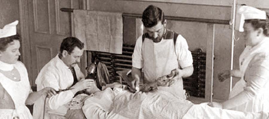 Cesarean section at the RVH in 1899