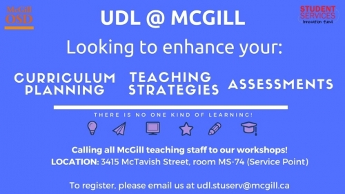 UDL at McGill poster