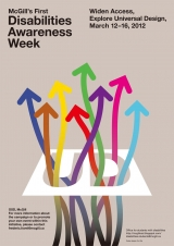 Poster for Disability Awareness Week 2012 - Widen Access, Explore Universal Design
