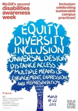 Poster for Disability Awareness Week 2013 - Inclusion: Celebrating Sustainable Campus Practices