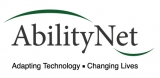 Logo for Ability Net, text reads adapting technology, changing lives