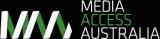 Logo for Media Access Australia, contains no additional text