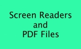 Screen Readers and P D F files