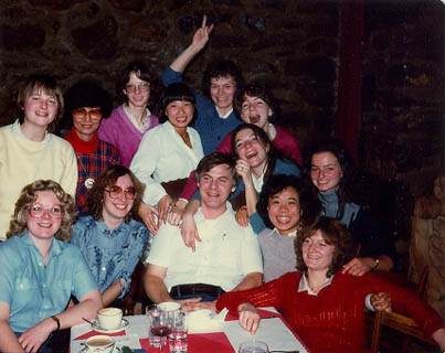 Barbecue at the Chalet Pruche? Back row: Maryvonne Boubry, Kathleen Ma, France Moreau, Margaret Hampong, Mary La Duke, Lyne Bourbonniere, Marilyn McNiell Front row Do you recognize the front row? Let us know.