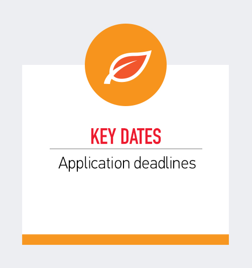 Key Dates: Application Deadlines