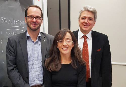 L to R: Fred Bachand, Simona Grossi, Fabien Gélinas.