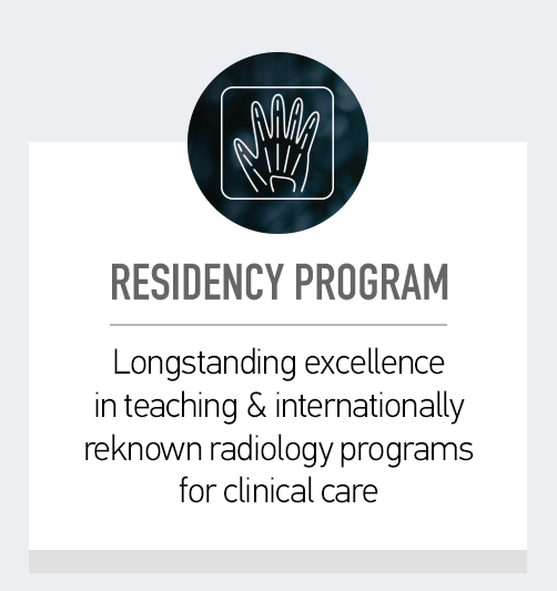 Residency program. Click here to find out about our longstanding excellence in teaching and internally reknown radiology programs for clinical care