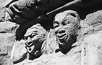 Carved heads