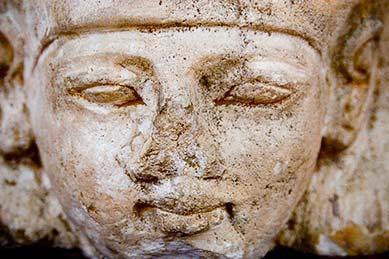 A pharoah head from Redpath Museum