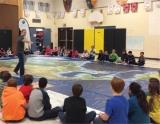 CWF's Wild Migration giant floor map in action