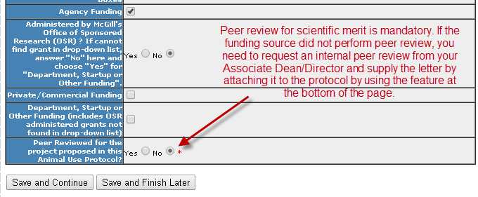 Section 6- Funding Sources - bottom of the main page