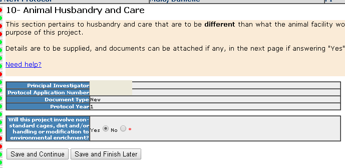 Section 10 - Animal Husbandry and Care
