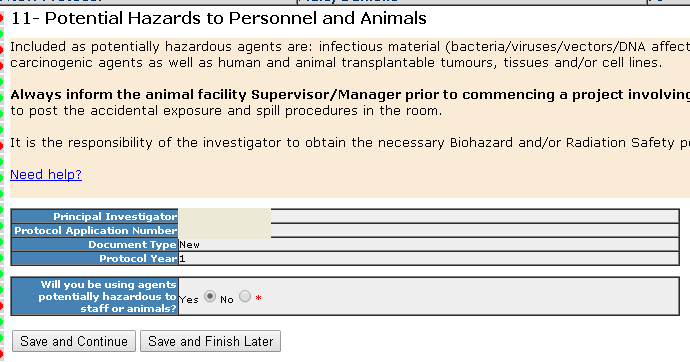 Section 11- Potential Hazards to Personnel and Animals - General Intro