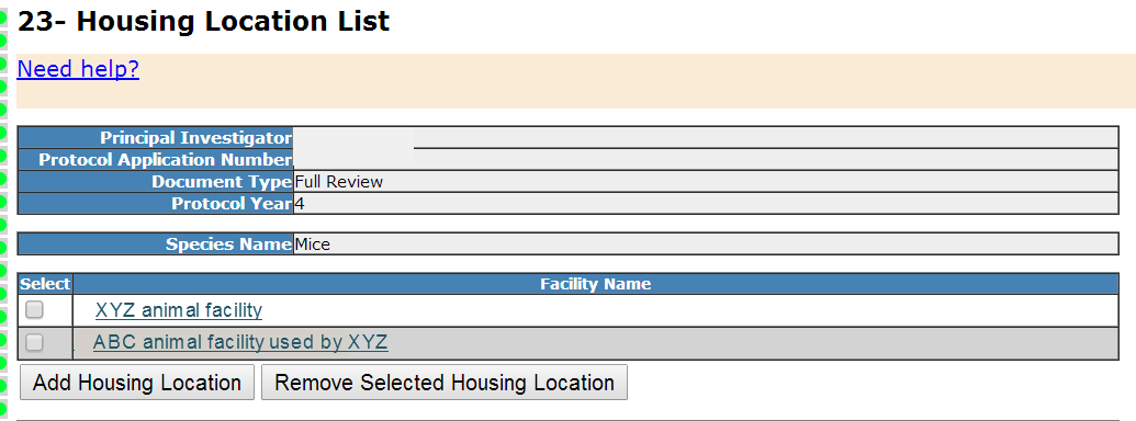 Section 23- Housing Location List