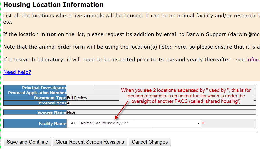 Section 23- Housing Location - Individual Details
