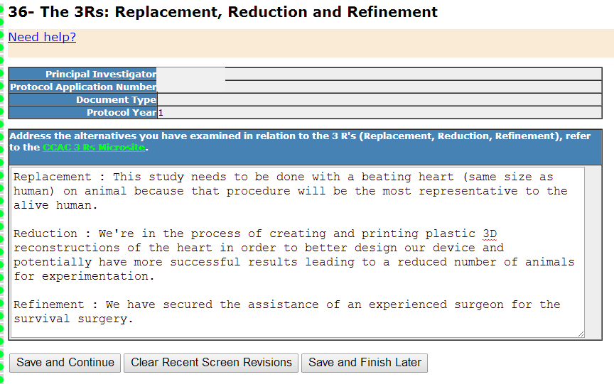 Section 36- The 3Rs: Replacement, Reduction and Refinement