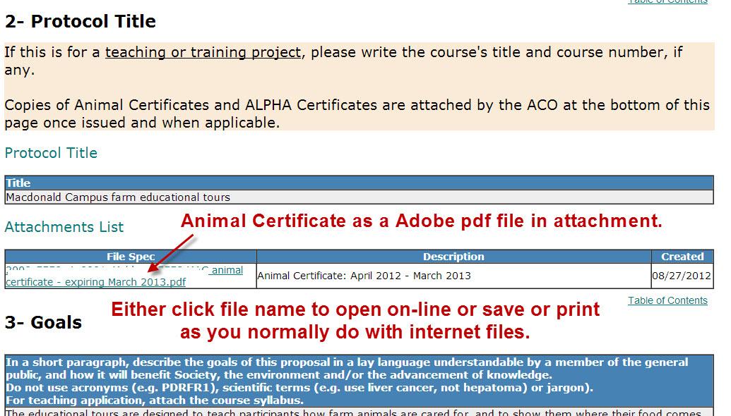 Animal Certificate files
