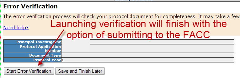 Error Verification