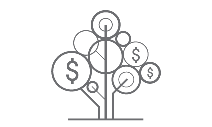 a money tree logo representing research funding.