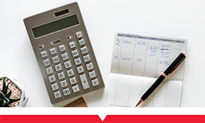 Calculator and notebook