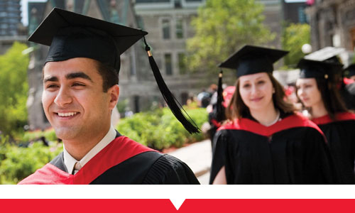 Group of McGill graduates at convocation