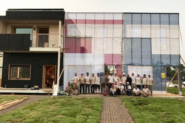 Photo of the Solar Decathlon China competition participants