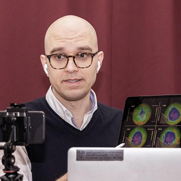 McGill professor teaching a remote course