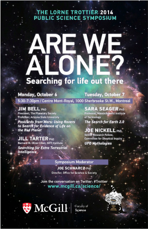 Trottier 2014 mini-poster: Are we alone?