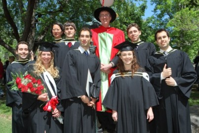 Dean Grant with Students at Convocation