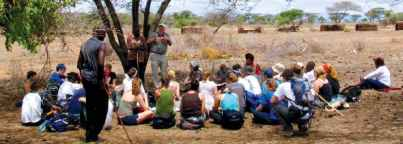 Africa Field Study Semester: class in the field