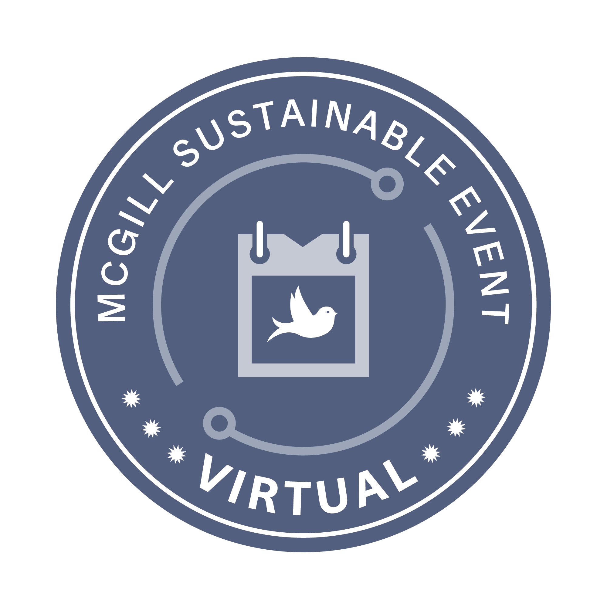 McGill sustainable virtual event logo