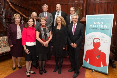 Group shot, speakers and dignitaries, 2017 Trottier Public Science Symposium