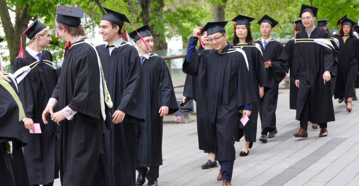 McGill science students on campus for Convocation