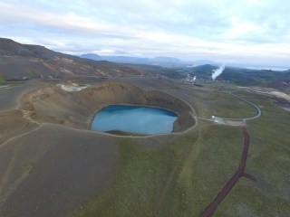 Viti Crater, a volcanic crater in Iceland