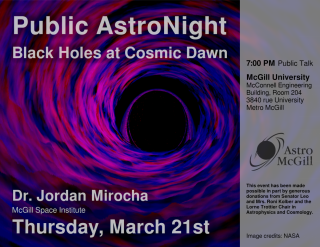 Black Holes at Cosmic Dawn Poster