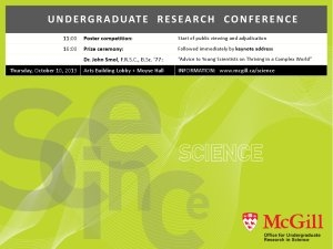 Undergraduate Research Conference mini-poster