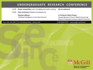 Miniposter: 2017 Undergraduate Research Conference, Faculty of Science.