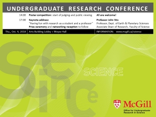 Mini-poster for 2018 Faculty of Science Undergraduate Research Conference.