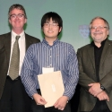 Joseph Yang with Dr. John Smol and Dean Martin Grant.