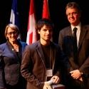 William Hamilton (centre) with Dr. Suzanne Fortier and Dean Martin Grant.