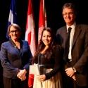 Danielle Salvatore (centre) with Dr. Suzanne Fortier and Dean Martin Grant.